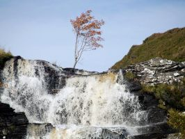 A Dundonnell waterfall by piglet365