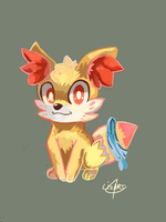 Furry The Fennekin by LizardonEievui13