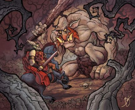 Ulik vs. the Ogre by BDAROZ