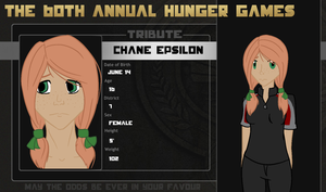 60th Hunger Games OCT: Chane Epsilon by TheCluelessAlchemist