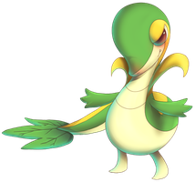 Snivy from Pokemon Black and White by MatsuoAmon