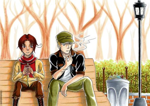 Hetalia APH : One Day In the Fall [Remake] by youngthong-art