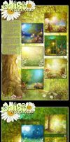 Daisy Woodlands Backgrounds by cosmosue