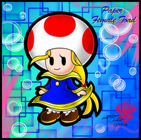 .:Paper Female Toad:. by Bowser2Queen