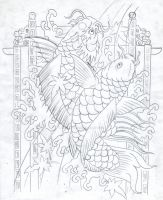 dragon carp by micaeltattoo