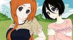 Rukia and Orihime by bubbamax1990
