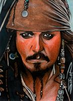 Captain Jack Sketch Card 2 by RandySiplon