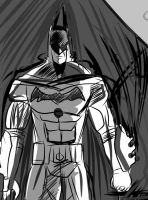 Batman digital sketch by IsaacVdA