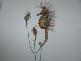 Seahorse with babies by JP-3D