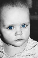 Sapphire Eyes - Selective Color by Odd-Fate