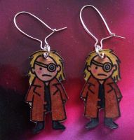 Kawaii Mad Eye Moody earrings by Lovelyruthie