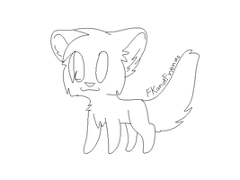 Free Chibi Cat lineart by FKandFriends