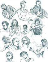 Figure Drawing Classmates by jezzy