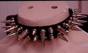 spiked leather buckled collar by tHeOnLyCaLaMiTy