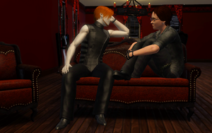 Sims 3 - John, Issac - Sofa by ConfusedLittleKitty