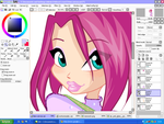 WIP: Tecna's face by florainbloom