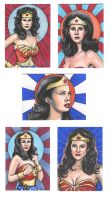 Wonder Woman Sketch Cards by AshleighPopplewell