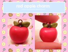 red apple charm by MiniatureTemptations