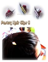 Pastry Hair Clips II by Eliwi