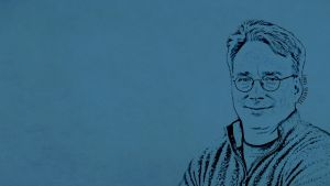 Linus Torvalds Wallpaper - Clean Version by Glenn1794