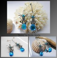 Kacey- silver wire wrapped earrings by mea00