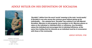 Adolf Hitler - on his definition of socialism by YamaLama1986