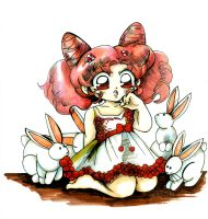 Chibi Usa and the Bunnies by bastett