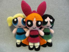 Powerpuff Girls by NerdyKnitterDesigns