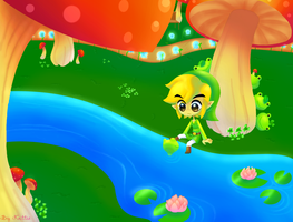 Link Watched by Frogs by SweetLolitaBunny