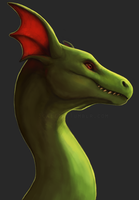 dragon portrait by Scaleeth
