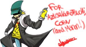 Corn from JSRF : Da Leader of Gangsters Graffitis by PinkHeart-Manoon