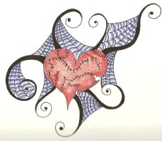 Spiderweb Heart by mypetsally