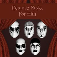Ceramic Masks For Him by zememz