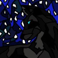 Stained glass wolf by Autobotschic