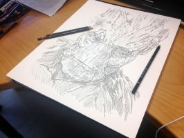 Groot in progress by AtomiccircuS