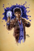 David Tennant as Doctor Who by hoganvibe