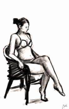 Pose Practice: Sitting Woman by Jepix