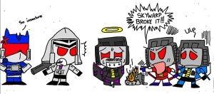 Chibi Decepticons by Chribity