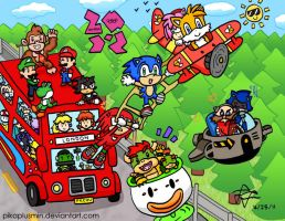 Mario and Sonic: Off to London by pikaplusmin