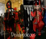 Deadpool and Lady Deadpool by SniperSunny
