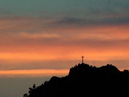 Jesus Christ Cross at Sunset 2 by PauloDuqueFrade