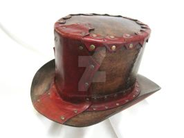 Leather top hat by OfTheGodsBlood