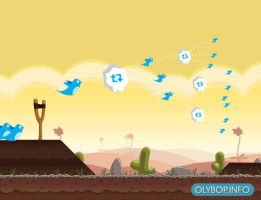 Twitter VS Angry Birds by olybop
