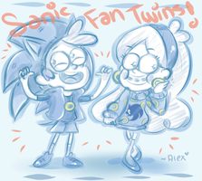 Sonic fan twins LOL by chibiirose