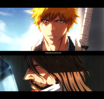 Bleach 613 - Ichigo and Yhwach by StingCunha