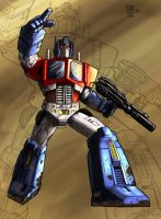 Caliber316's Optimus Prime by Spydormonkey