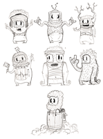 Some characters by MauLencinas