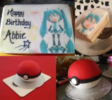 Birthday Cakes :3 by chihayaXyayoi