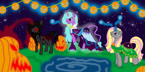 Pony Contest Entry Halloween by Sarahostervig