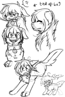 Late Night Smile Doge Doodles by Kawaii-BEN